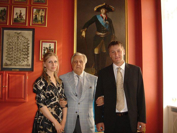Ilya Glazunov with Mr. and Mrs. Kuraksa