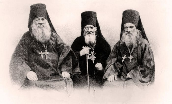 Three of the holy Optina Elders. Photo: shamordino-m.ru