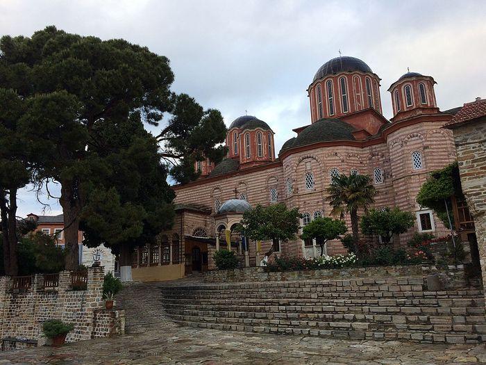 The katholicon at Xenophontos Monastery