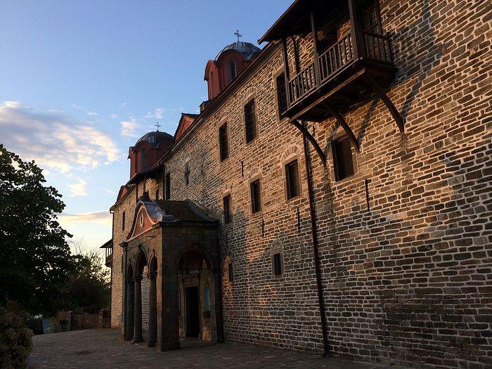 The front of Koutloumousiou Monastery