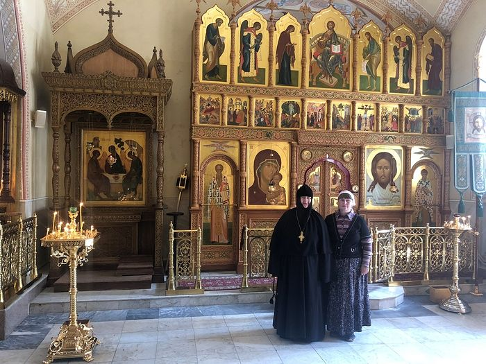 With Mother Nikolaya in Optina