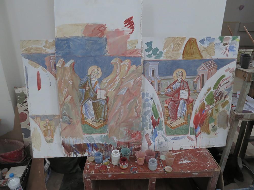 Эскизы фресок