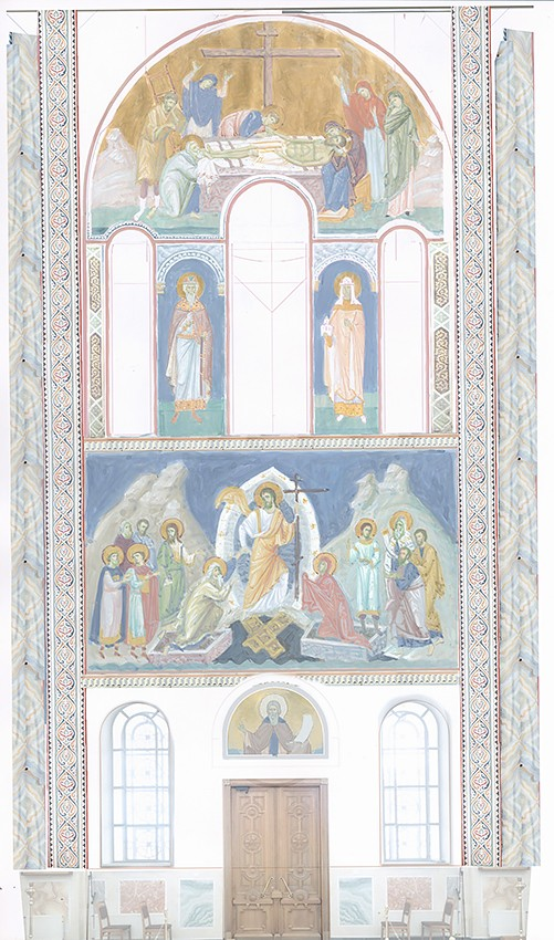 Снятие со Креста. Сошествие во ад. Эскизы фресок