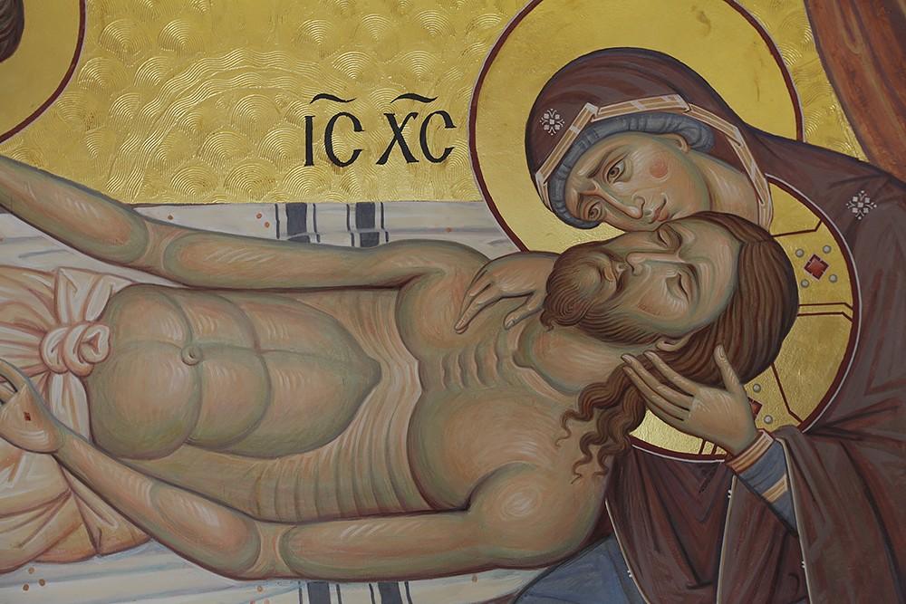 Снятие со Креста. Фрагмент