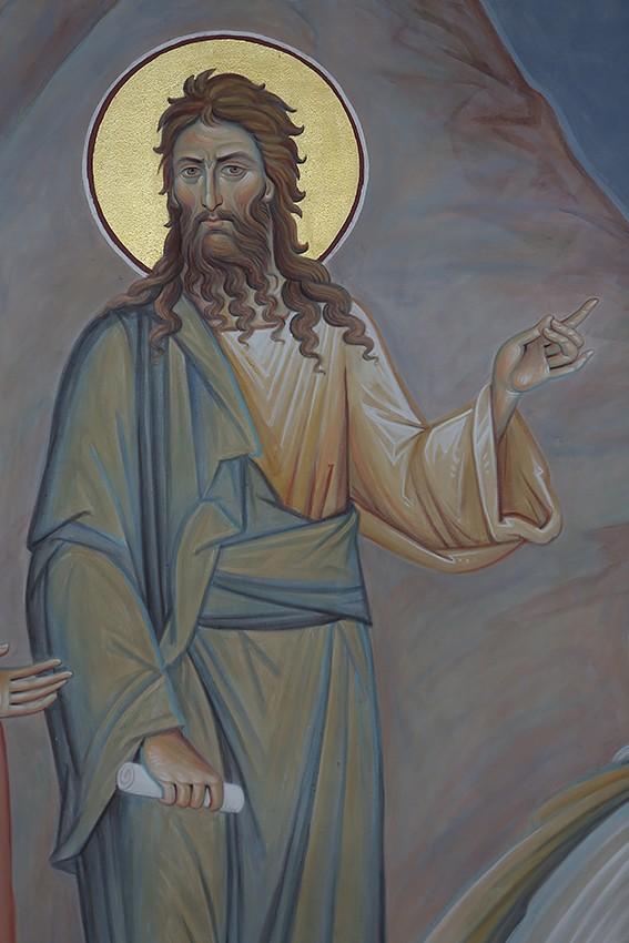 Иоанн Предтеча. Фрагмент фрески «Сошествие во ад»
