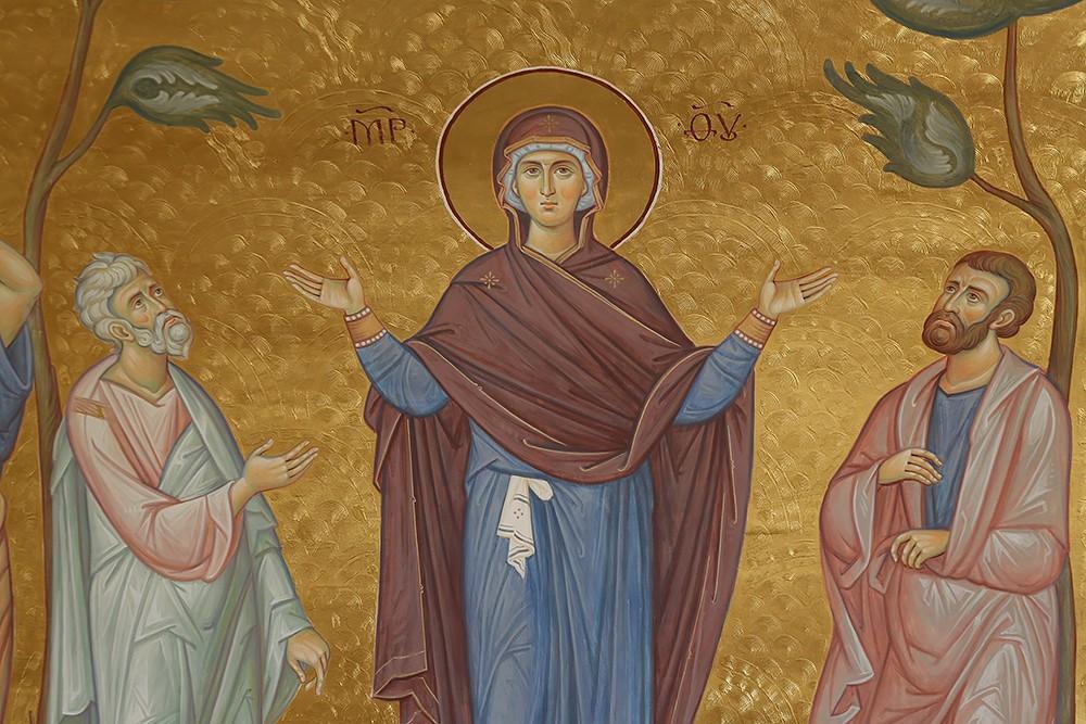 Вознесение Господне. Фрагмент. Богородица