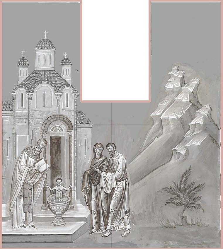 Крещение святителя Николая. Эскиз