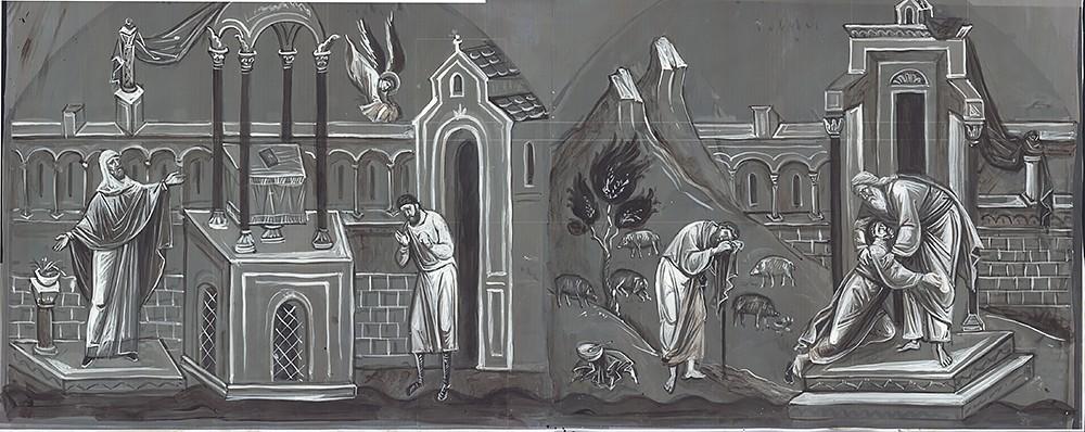 Мытарь и фарисей. Возвращение блудного сына. Эскизы