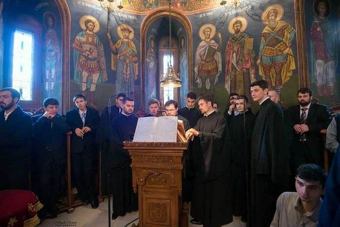 At the church of Radu Voda Monastery