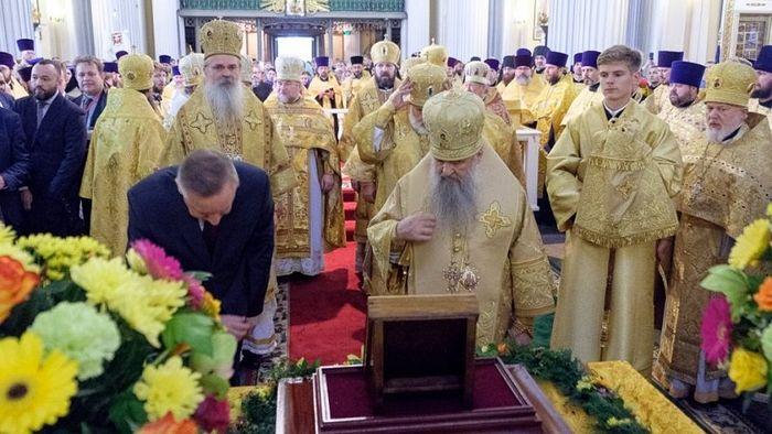 Благодарствени молебан за новоизабраног губернатора Петрограда