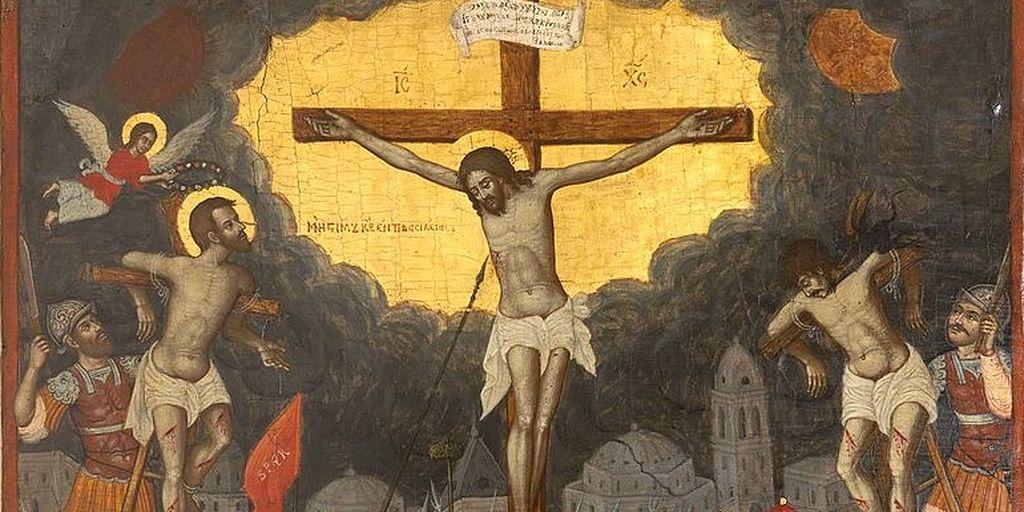 разбойник на кресте картинки люди