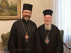 Συνάντηση του Ουνίτη Αρχιεπισκόπου Ουκρανίας με τον Οικουμενικό Πατριάρχη. Η ουκρανική εκκλησία και το Φανάρι-Βατικανό