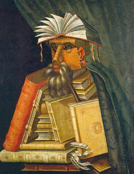 «Библиотекарь». Художник: Джузеппе Арчимбольдо