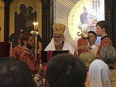 Faithful fill church for Abp. John's first Liturgy as hierarch of the Russian Church