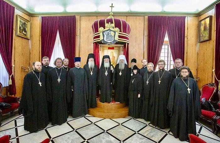 Митрополит Санкт-Петербургский и Ладожский Варсонофий встретился с Патриархом Иерусалимским Феофилом