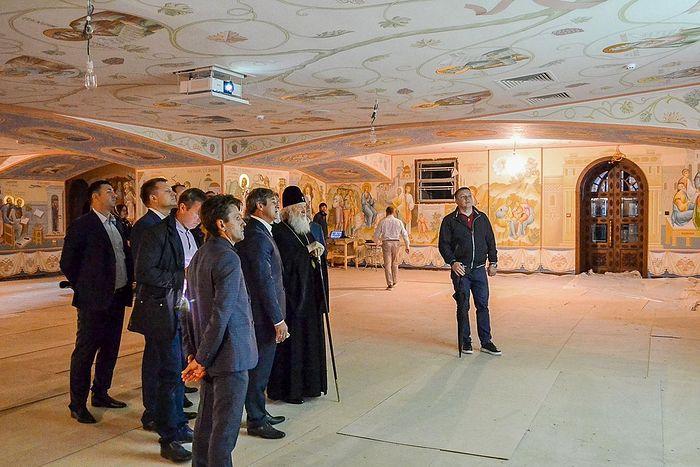Святейший Патриарх Кирилл ознакомился с ходом строительства Андреевского кафедрального собора г. Геленджика