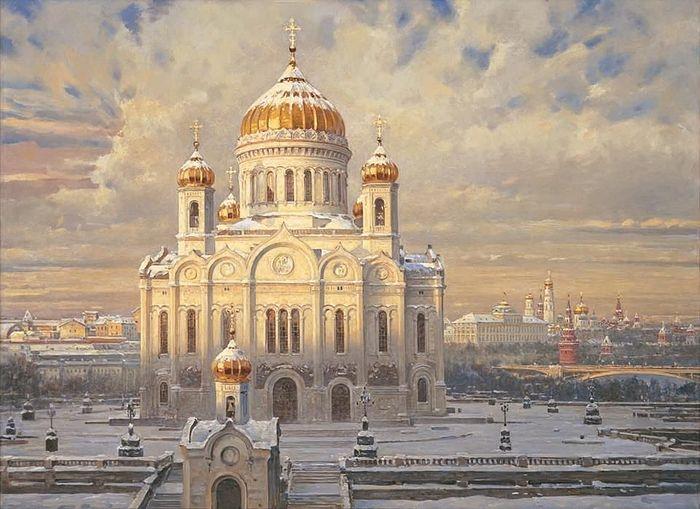 «Храм Христа Спасителя». Холст, масло, 110 х 150 см, 2002 г.