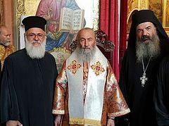 Клирики Элладской Церкви выразили почтение и поддержку Блаженнейшему Митрополиту Онуфрию