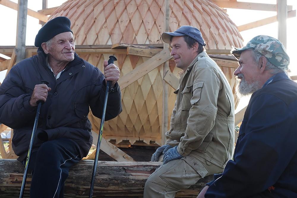 Александр Порфирьевич Слепинин с добровольцами «Общего дела»