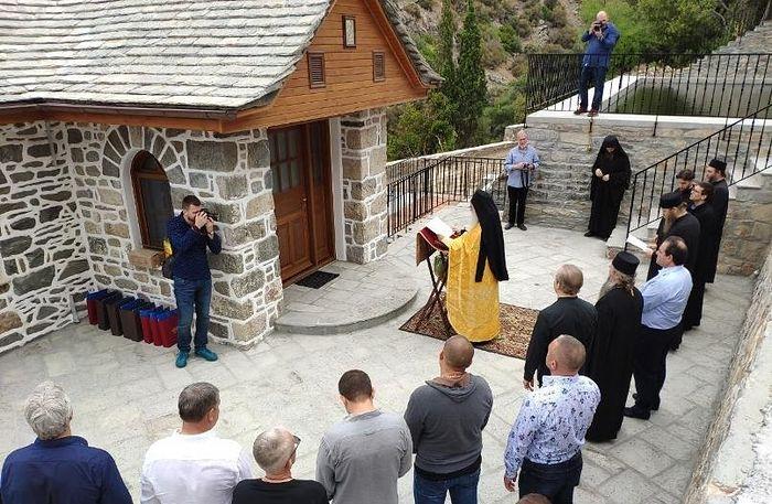 Мельница прп. Силуана Афонского освящена в Пантелеимоновом монастыре на Святой Горе