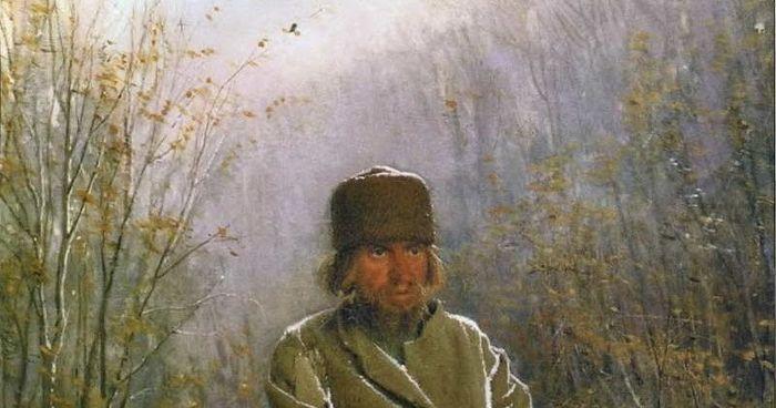 Фрагмент картины И.Н. Крамского «Созерцатель» 1876