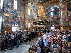 Metropolitan Onuphry leads celebration of 25th anniversary of canonization of St. Kuksha of Odessa