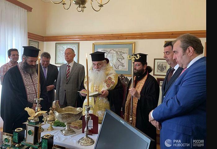 Иерарх Элладской Церкви освятил российское консульство на Пелопоннесе