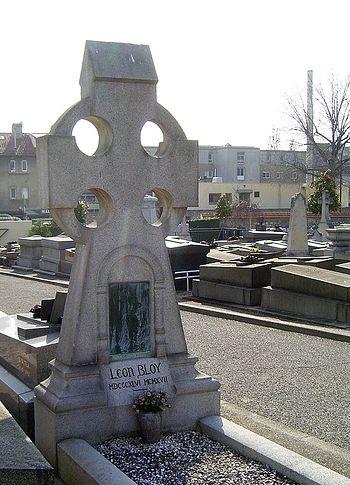 Могила Леона Блуа на кладбище Бур-ла-Рен