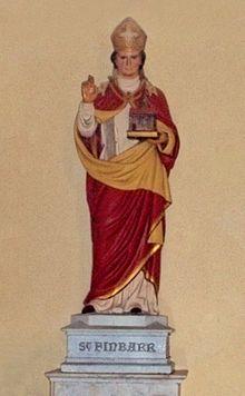 Статуя свт. Финбарра в католическом соборе Корка (фото предоставлено кафедральным собором Богородицы и св. Анны в Корке)