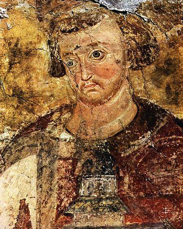 Святой Владислав. Ктиторский портрет в монастыре Милешева
