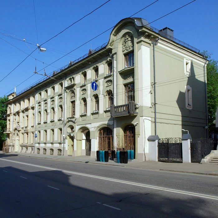 The Kekushev tenant house, Ostozhenka Street 19. Architect: Lev Kekushev. Photo: NVO – own photo, CC BY-SA 3.0.
