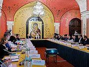 Святейший Патриарх Кирилл возглавил заседание Попечительского совета Троице-Сергиевой лавры и Московской духовной академии