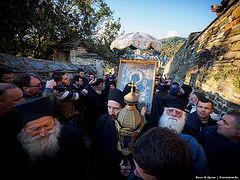 Το Άγιο Όρος. Η λιτανεία της εικόνας της Παναγίας Πορταΐτισσας