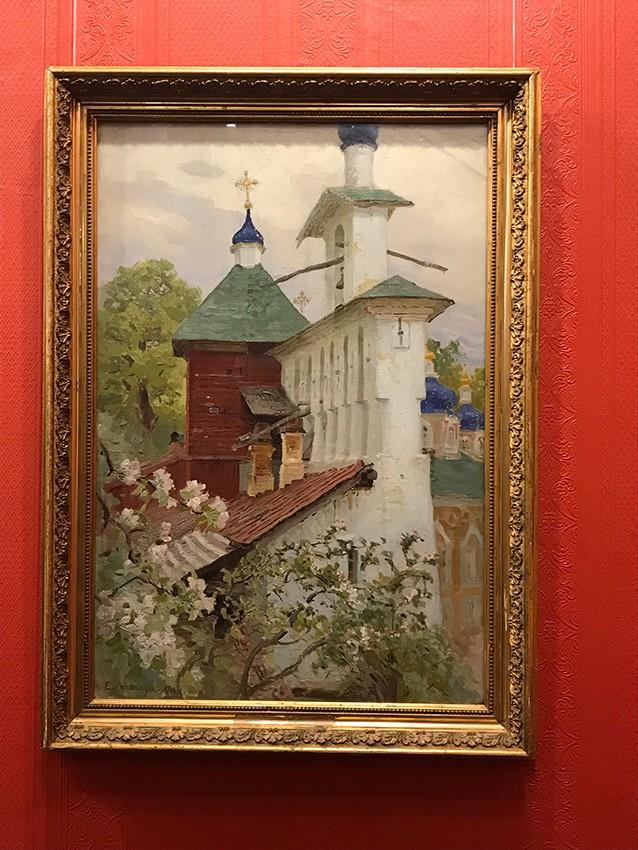 Е.Е. Лансере. Большая звонница Псково-Печерского монастыря