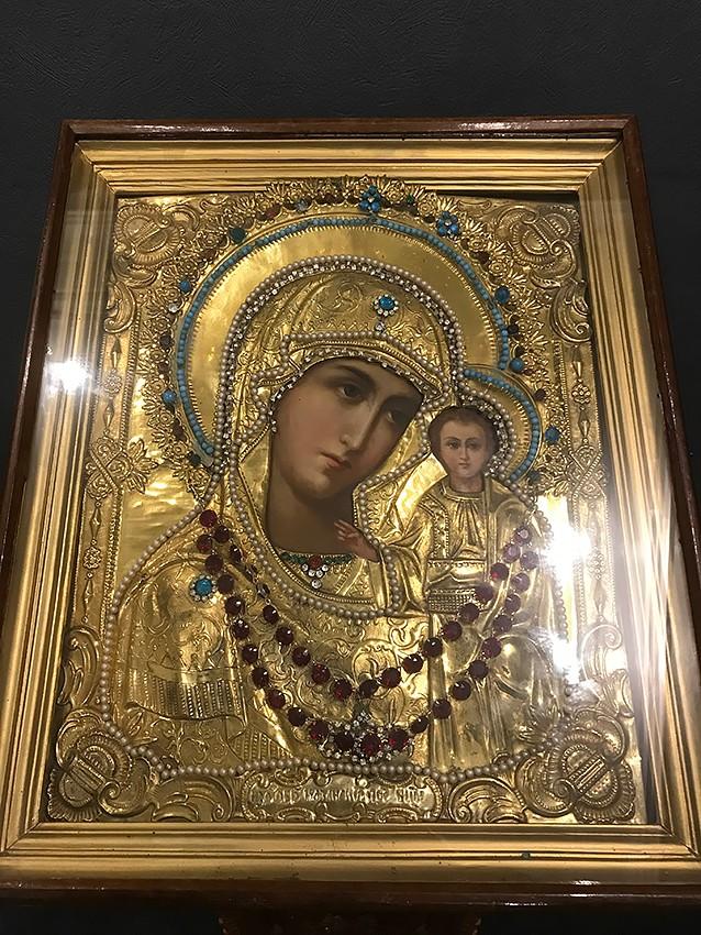 Казанская икона Божией Матери. Предположительно письма архимандрита Алипия