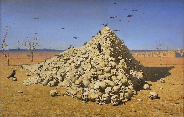 Apotheosis of War by Vasily Vershagin. Photo: Wikipedia. https://en.wikipedia.org/wiki/The_Apotheosis_of_War#/media/File:Apotheosis.jpg