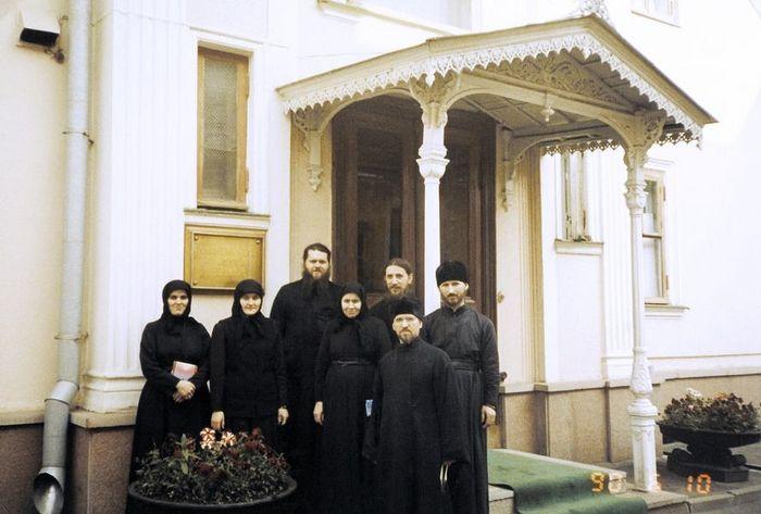 Матушка Феофания на послушании в Московской Патриархии. 1990 год