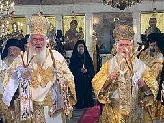 Archbishop of Greece, Patriarch Bartholomew commemorate schismatic primate Epiphany (+ VIDEO)