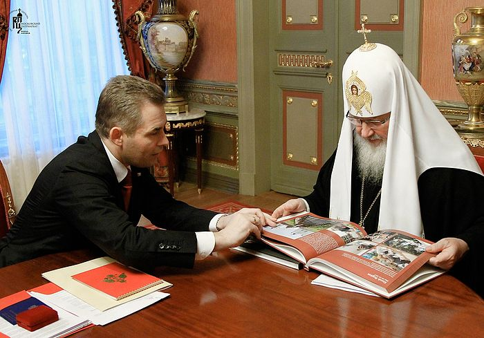 Со Святейшим патриархом Кириллом