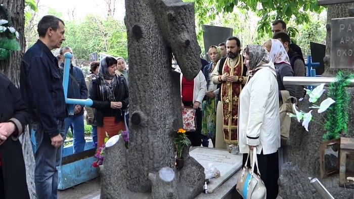 Панихида и молебен на могиле блаженного старца Ивана Петровича