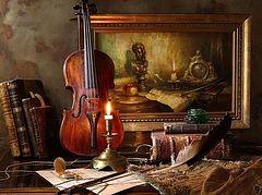 Скрипка, хлеб и зажигалка