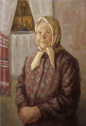 Бабушка Таня. Художник: Владимир Нестерков