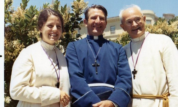 Paul Blighton (right), the founder of the Holy Order of MANS. Photo: Facebook