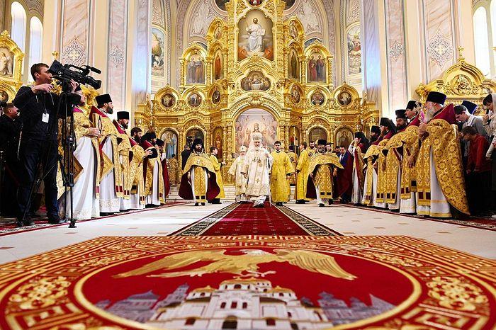 Предстоятель Русской Церкви освятил кафедральный собор Рождества Пресвятой Богородицы г. Ростова-на-Дону