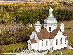 Православные храмы Альберты (Канада) с высоты птичьего полета