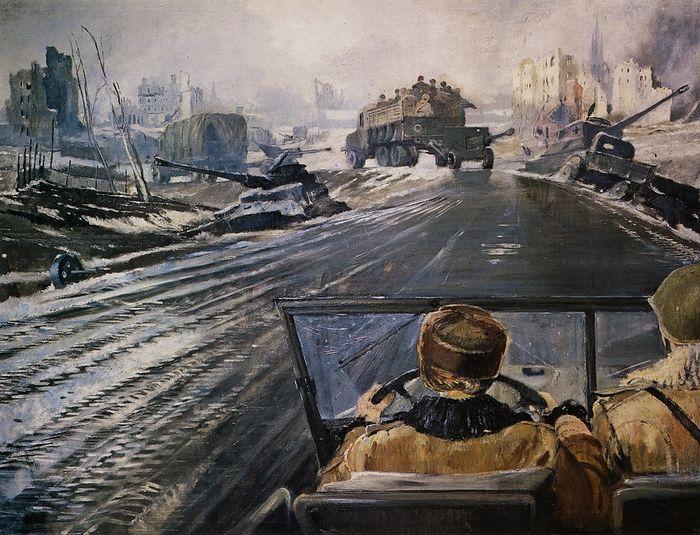 Юрий Пименов. Фронтовая дорога