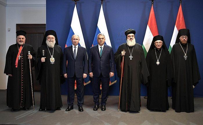 Президент России и Премьер-министр Венгрии встретились с главами христианских Церквей Ближнего Востока