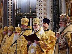 Слово митрополита Дубнинского Иоанна после Божественной литургии в Храме Христа Спасителя в Москве