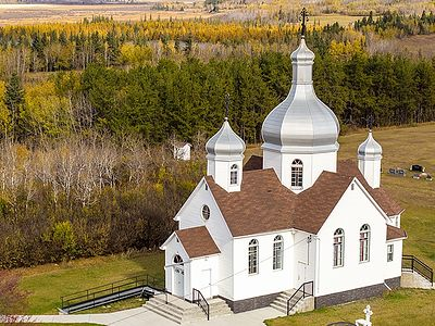 Orthodox Churches of Alberta, Canada From a Bird's Eye View