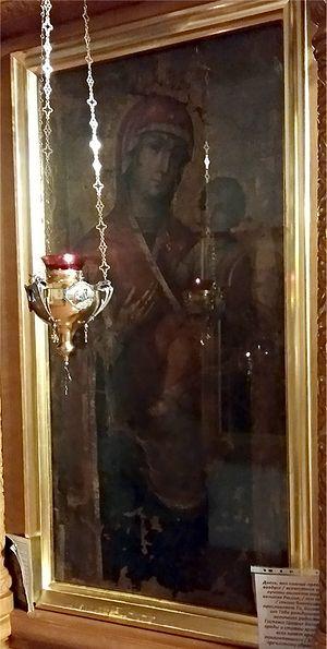 Тихвинская икона Божией Матери из Саровской пустыни - ныне в храме Святой Троицы в с. Аламасово Вознесенского района Нижегородской области